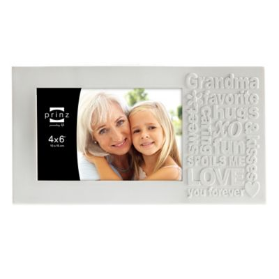 Prinz Together Time 4-Inch x 6-Inch Grandma Picture Frame in Matte White