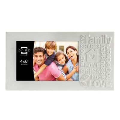 Prinz Together Time 4-Inch x 6-Inch Family Picture Frame in Matte White