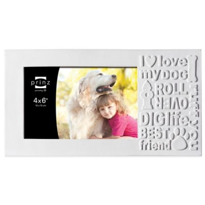 Prinz Together Time 4-Inch x 6-Inch Faithful Friend Picture Frame in Matte White