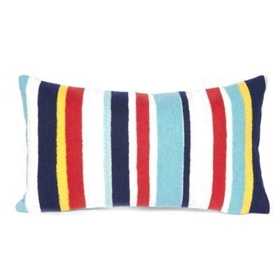 Liora Manne Riviera Stripe 12-Inch x 20-Inch Outdoor Throw Pillow