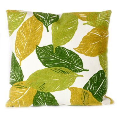 Liora Manne Mystic Leaf 20-Inch x 20-Inch Outdoor Throw Pillow in Green