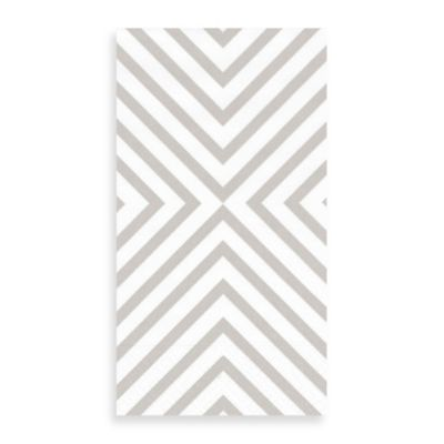 Chevron Silver 15-Count Guest Towels
