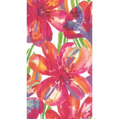 Floral Pop 15-Count Guest Towels