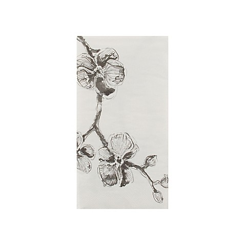 Black orchid 16 count 3 ply paper guest towels bed bath for Black and white bathroom paper
