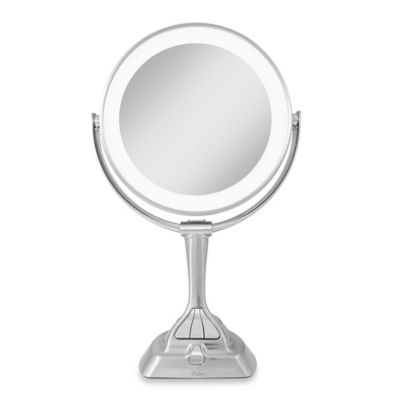 Led Lighted Vanity Mirror Next Generation : Zadro Next Generation LED Variable Light Vanity Mirror 1X/10X in Satin Nickel - www ...
