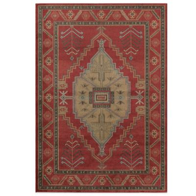 Rugs America Ziegler Diamond 7-Foot 10-Inch x 10-Foot 10-Inch Rug in Red