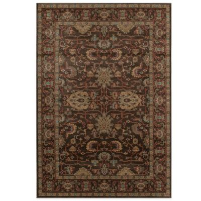 Brown Floral Area Rugs