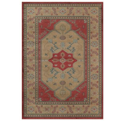 Rugs America Ziegler Border 2-Foot x 3-Foot Rug in Gold