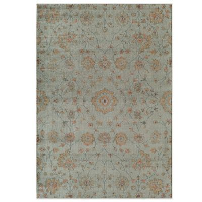 Rugs America Rallye Floral Vine 5-Foot 3-Inch Round Rug in Wheat