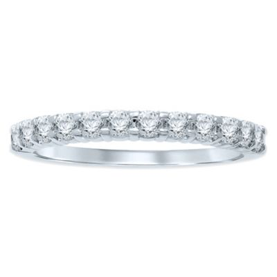 14K White Gold .50 cttw Prong-Set Diamond Size 8 Ladies' Wedding Band