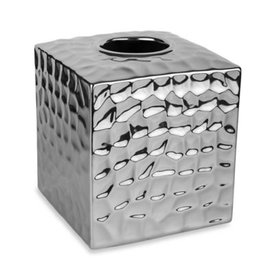 Taymor® Chrome Crush Boutique Tissue Box Cover