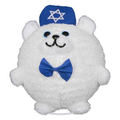 20-Inch Lighted Hanukkah Bear in White/Blue