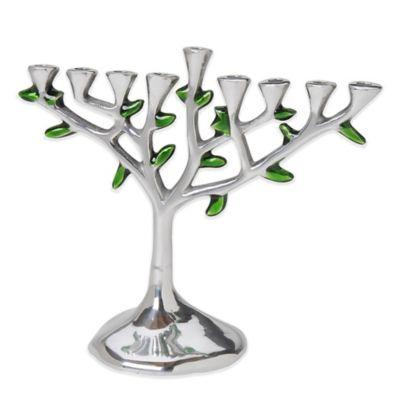 Tree of Life Aluminum Menorah