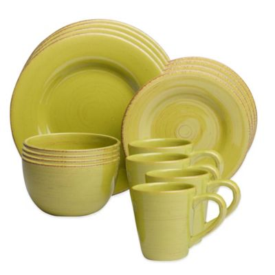 Sonoma 16-Piece Dinnerware Set in Apple Green
