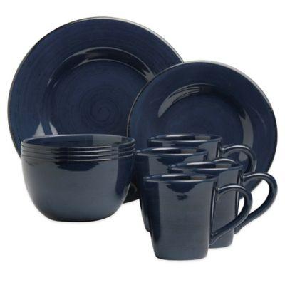 Sonoma 16-Piece Dinnerware Set in Navy