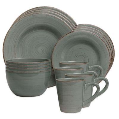 Sonoma 16-Piece Dinnerware Set in Slate Blue