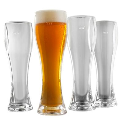Wine Enthusiast Indoor/Outdoor Pilsner Glasses (Set of 4)