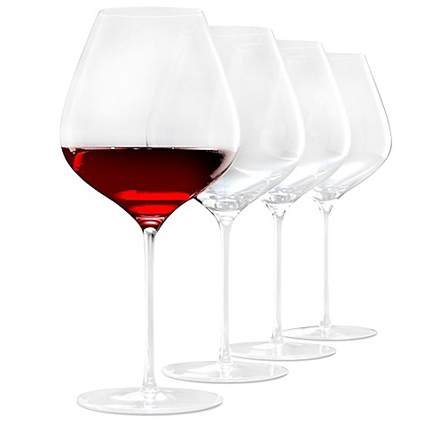 Wine Enthusiast Fusion Pinot Noir Wine Glasses Set Of 4