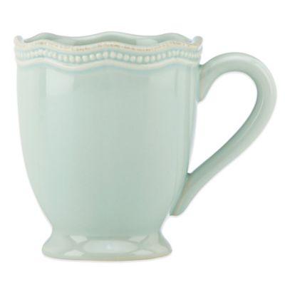 Lenox® French Perle Bead Mug in Ice Blue