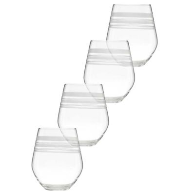 kate spade new york Library Stripe™ Stemless Wine Glasses (Set of 4)