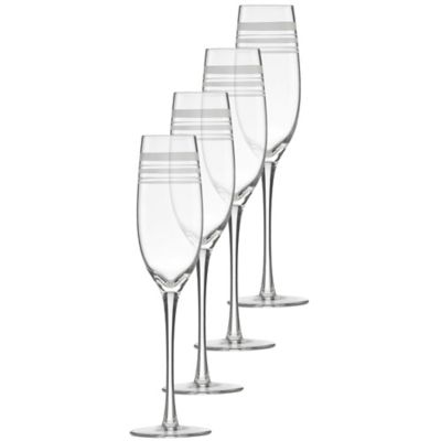 kate spade new york Library Stripe Toasting Flutes (Set of 4)