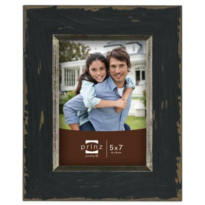 Prinz Crawford 5-Inch x 7-Inch Wood Picture Frame in Black