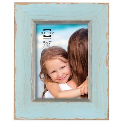 Prinz Clearwater 5-Inch x 7-Inch Wood Picture Frame in Blue