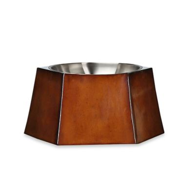 Bombay™ Montego Hexagon Pet Bowl in Mahogany