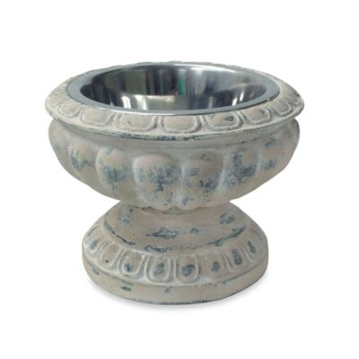 Bombay™ Aeneas Stone Urn Pet Bowl in Weathered-Beige