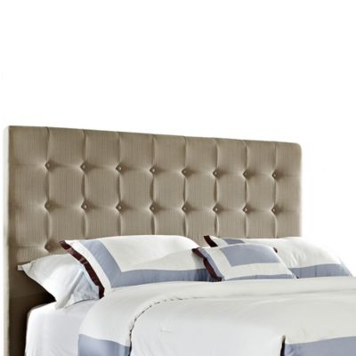 Powell Soft Roll King Headboard in Tan