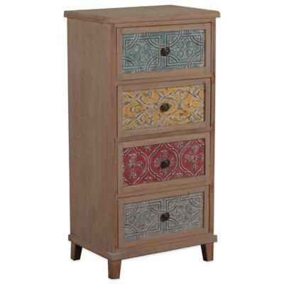 Powell Molly Driftwood and Colored Tall Cabinet