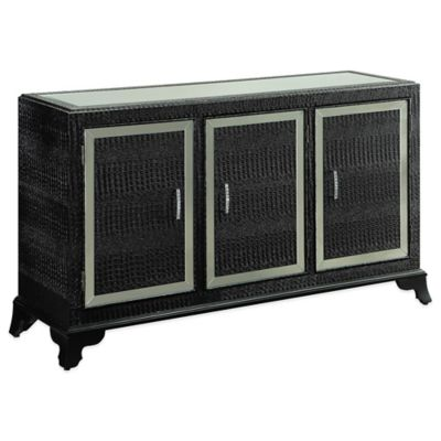Powell Glamour Console Cabinet in Black
