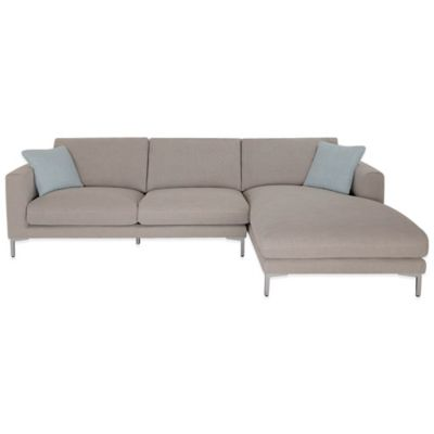 Safavieh Hudson Right Facing Chaise Sectional in Light Grey