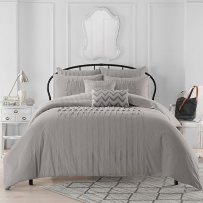 Anthology™ Sierra King Duvet Cover in Grey