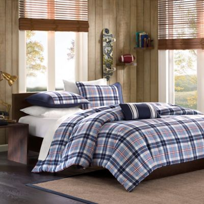 Mizone Eiliot Twin/Twin XL Duvet Cover Set in Blue