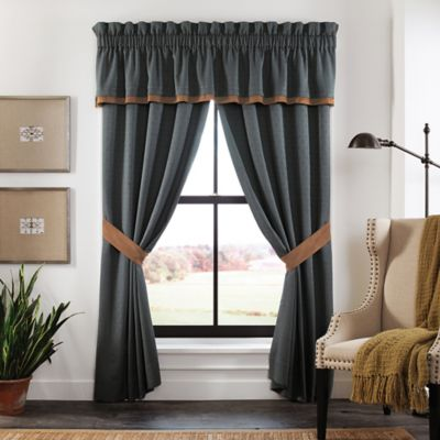 Croscill Arizona 88-Inch Tailored Window Valance in Blue/Brown