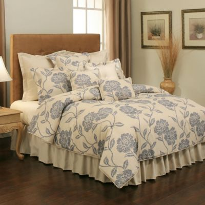 Sherry Kline Splendid Reversible Floral Queen Comforter Set in Indigo