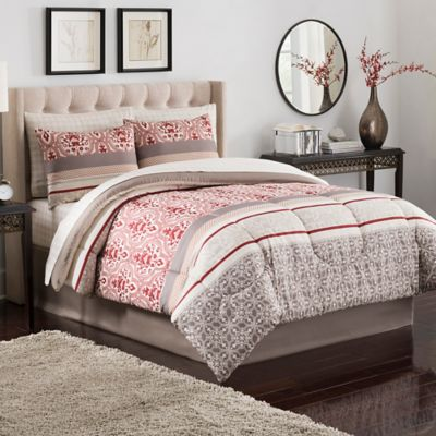 Sienna Queen Comforter Set in Rust