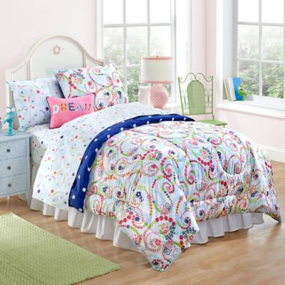 Paisley and Dot Twin Comforter Set
