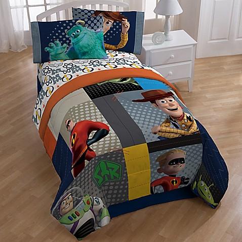 Disney 174 Pixar Patchwork Twin Full Comforter Bed Bath