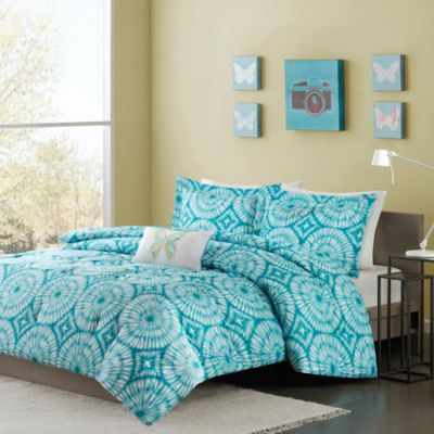 Mizone Nia Twin/Twin XL Comforter Set in Teal