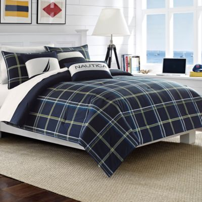 Nautica® Barrett Twin Duvet Cover Set in Navy