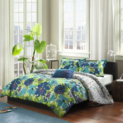 Mizone Jayna Twin/Twin XL Comforter Set in Blue