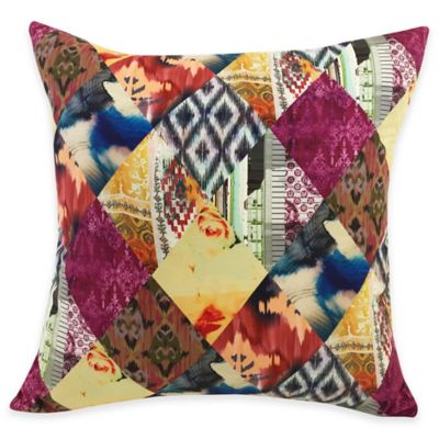 Tribal Square Throw Pillow in Multi