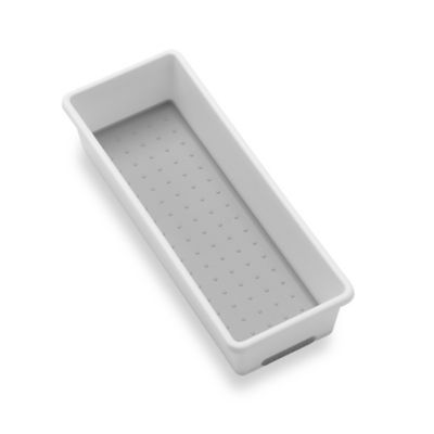 madesmart® 3-Inch x 9-Inch Drawer Organizer in White/Grey