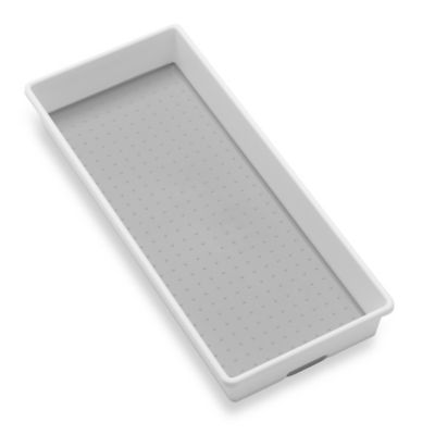 madesmart® 6-Inch x 15-Inch Drawer Organizer in White/Grey