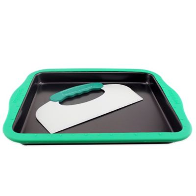 BergHOFF® PerfectSlice 14-Inch x 11-Inch Cookie Sheet with Slicer Tool and Sleeve