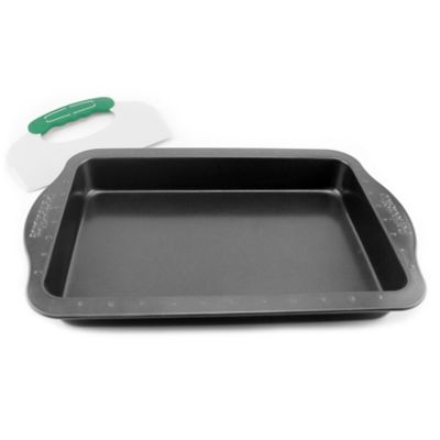 BergHOFF® PerfectSlice 13-Inch x 9-Inch 2-Piece Roaster Pan with Slicer Tool