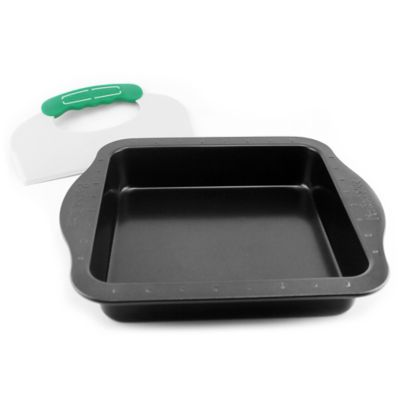 BergHOFF® PerfectSlice 9-Inch Square Cake Pan with Slicer Tool
