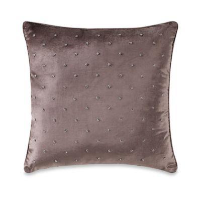Manor Hill® Sienna Velvet Beaded Square Throw Pillow in Mocha